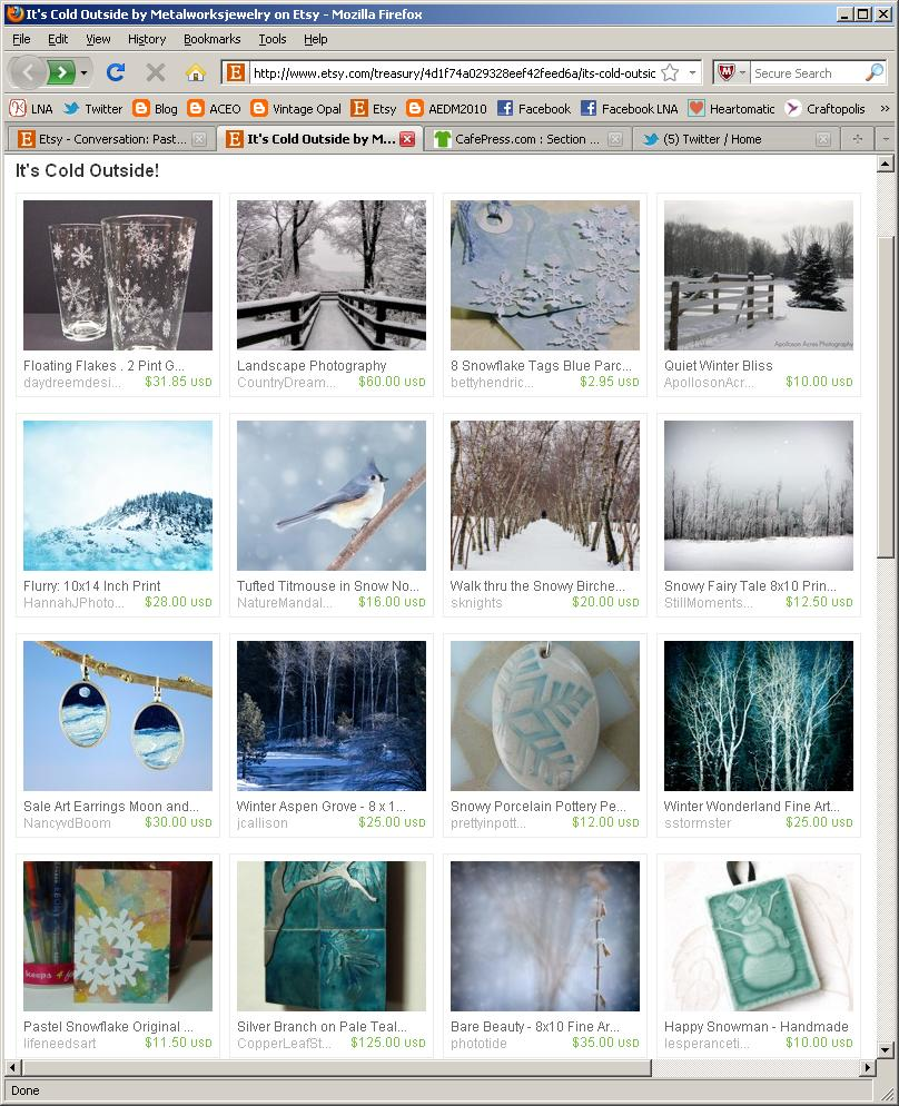 etsy treasury of winter images